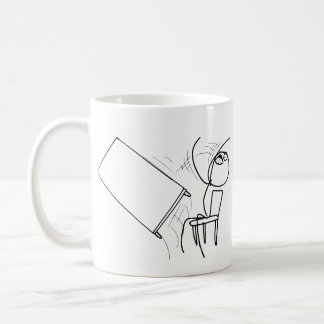 Table Flip Flipping Rage Face Meme Classic White Coffee Mug