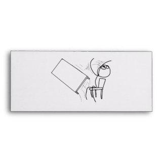 Table Flip Flipping Rage Face Meme Envelope