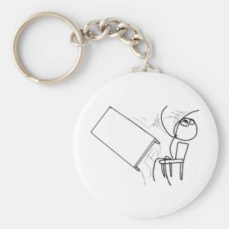 Table Flip Flipping Rage Face Meme Keychain