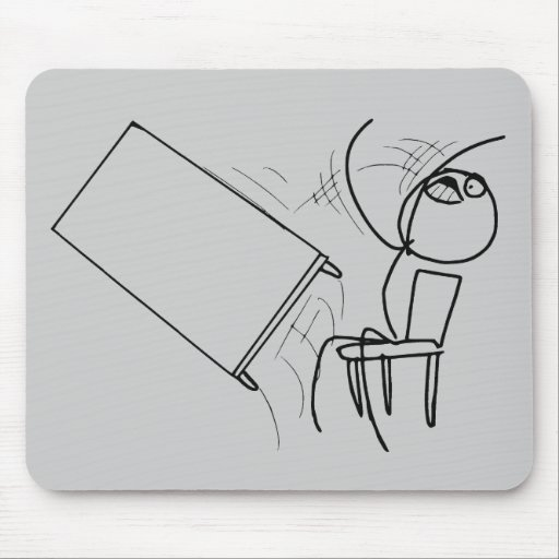 Table Flip Flipping Rage Face Meme Mouse Pads
