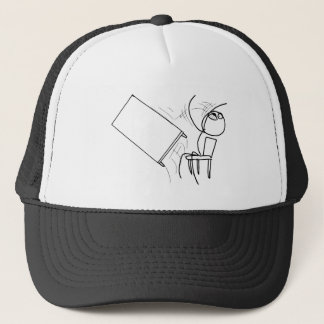 Table Flip Flipping Rage Face Meme Trucker Hat