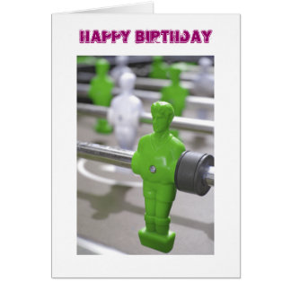 Table Football Birthday Card (Green)