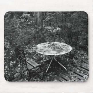 Table For Two B&W Mouse Pad