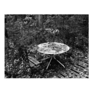 Table For Two B&W Postcard