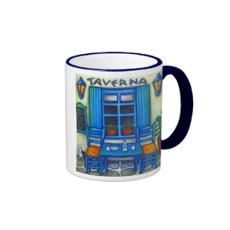 Table for Two in Greece Coffee Mug