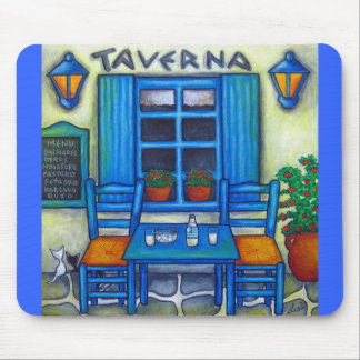 Table for Two in Greece Mousepad