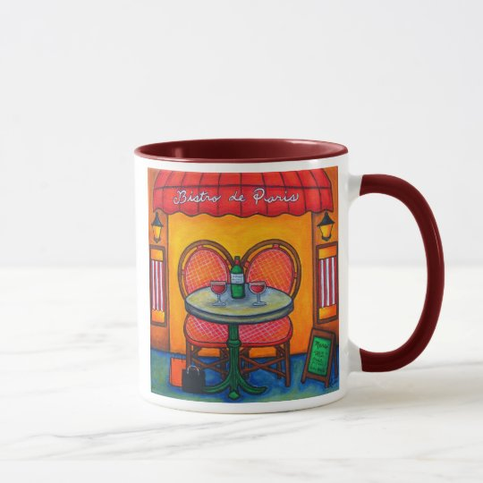 Table for Two in Paris Coffee Mug
