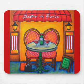 Table for Two in Paris Mouse Pad