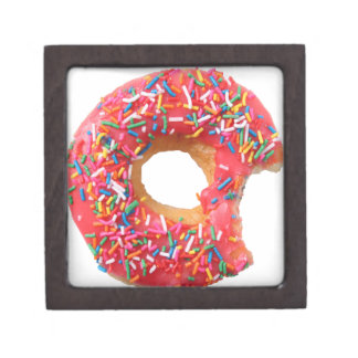 Table Kitchen Donuts Sweets Dessert Donut Jewelry Box