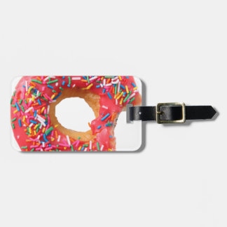 Table Kitchen Donuts Sweets Dessert Donut Luggage Tag