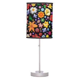 Table_lamp de las flores de la primavera y del ver lámpara de mesa