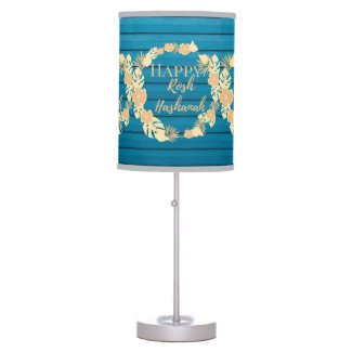 Table Lamp Happy Rosh Hashanah Wreath Floral