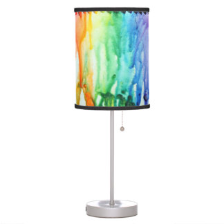 Table Lamp- Melted Crayon watery Desk Lamp