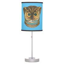 Table Lamp Owl vintage illustration