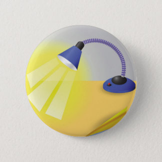 Table Lamp Pinback Button