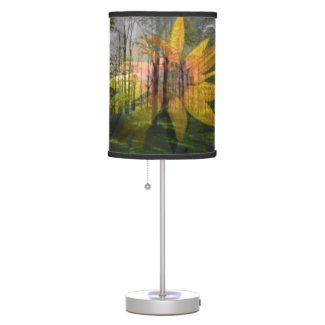 Table Lamp Small, Sunflower, Forest Layered Photos