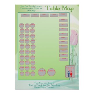 Table Location Map (vertical) print