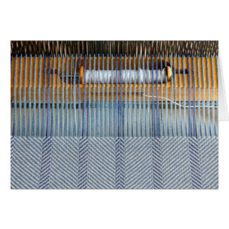 Table loom with twill weaving card