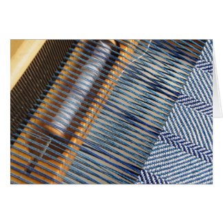 Table Loom with weaving project Card