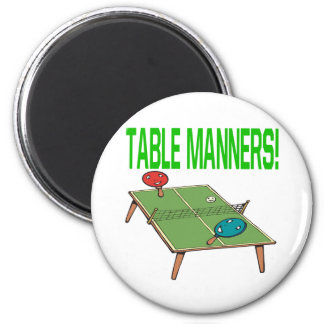 Table Manners 2 Inch Round Magnet