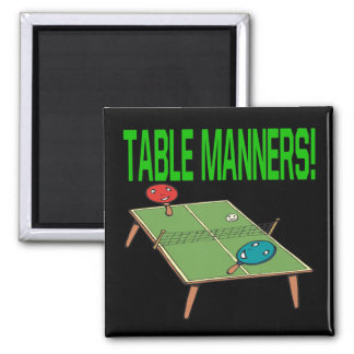 Table Manners 2 Inch Square Magnet