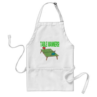 Table Manners Adult Apron