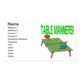 Table Manners Business Card