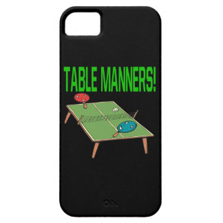 Table Manners iPhone 5 Covers