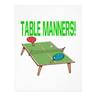 Table Manners Flyer