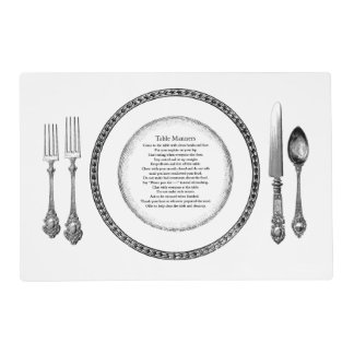 Table Manners Placesetting Placemat
