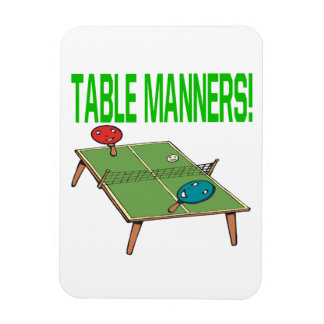 Table Manners Rectangular Photo Magnet