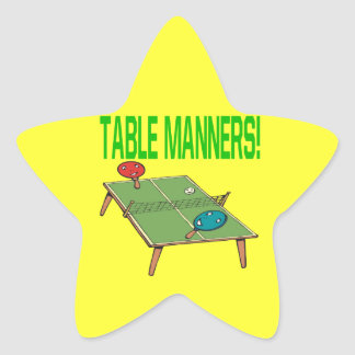 Table Manners Star Sticker