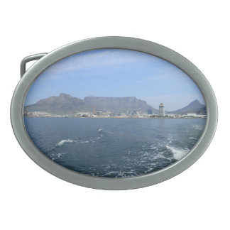 Table Mountain and Cape Town, ZA Belt Buckles