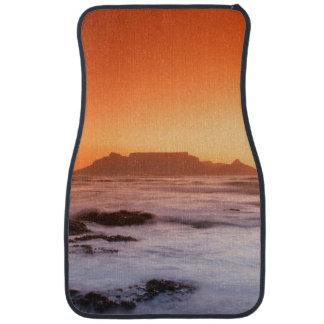 Table Mountain At Sunset, Bloubergstrand Car Floor Mat