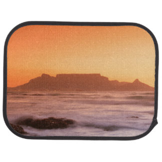 Table Mountain At Sunset, Bloubergstrand Car Floor Mat