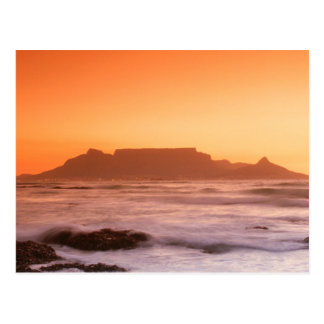 Table Mountain At Sunset, Bloubergstrand Postcard