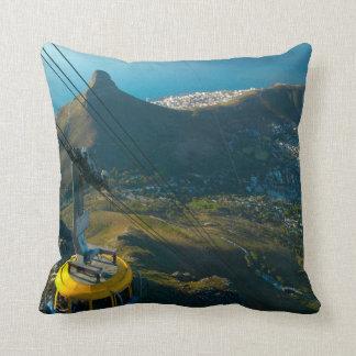 Table Mountain Cable Car, Cape Town Throw Pillow