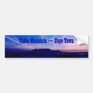 Table Mountain Cape Town RSA Bumper Sticker