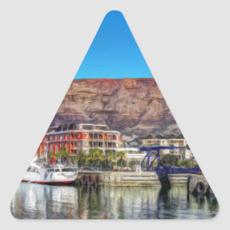 Table Mountain from the Waterfront_Painting.TIF Triangle Sticker