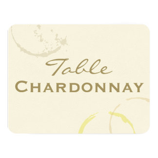 Table Name Cards | Types of Wine Theme Invites