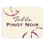 """Table Name Cards 