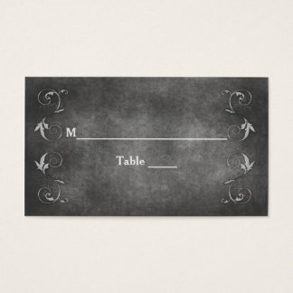 TABLE NAMES ASSIGNS - PEWTER/SWIRL WED. COLLECTION BUSINESS CARD
