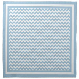 Table Napkins or Serviette Blue and White Chevrons
