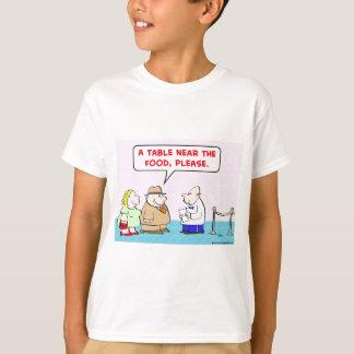 table near food waiter fat restaurant T-Shirt