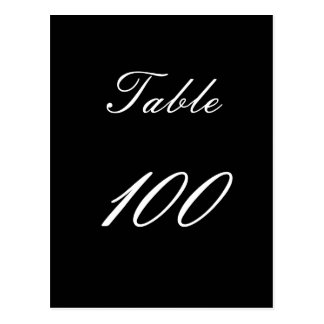 Table Number 100 Postcard