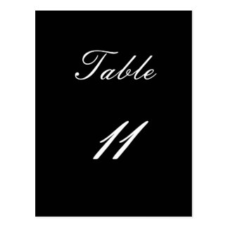 Table Number 11 Postcard