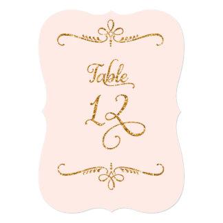 Table Number 12, Fancy Script Lettering Receptions Custom Invitation