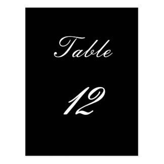 Table Number 12 Postcard