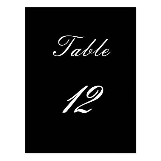 Table Number 12 Postcard