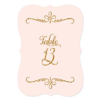 Table Number 13, Fancy Script Lettering Receptions Custom Invitation